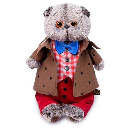 Купить Мягкая игрушка Basik&Co Кот Басик в костюме с бантом 19 см, Мягкие игрушки