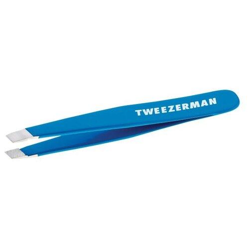 Пинцет Tweezerman Mini Slant Tweezer для бровей bahama blue
