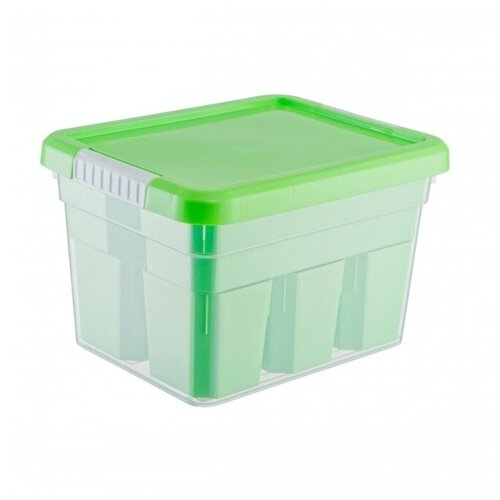 FunBox Ящик-органайзер Basic 5 л, 6 вставок + лоток-органайзер зеленый
