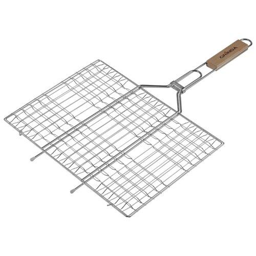 Решетка GRINDA BARBECUE 424702, 34х22 см решетка для гриля grinda 424710 объемная 300х400мм
