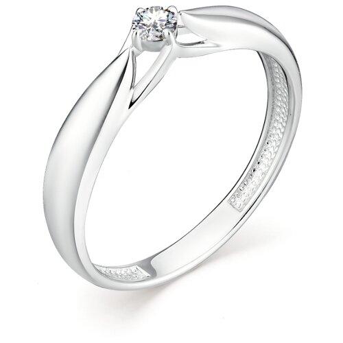 АЛЬКОР Кольцо с 1 бриллиантом из белого золота 12955-200, размер 17 алькор кольцо с 1 бриллиантом из белого золота 12869 200 размер 17 5