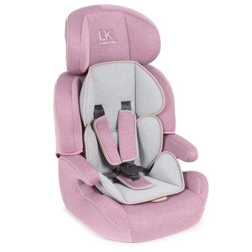 Автокресло группа 1/2/3 (9-36 кг) Lider Kids City Travel Denim, розовый/серый автокресло группа 1 2 3 9 36 кг little car ally с перфорацией черный