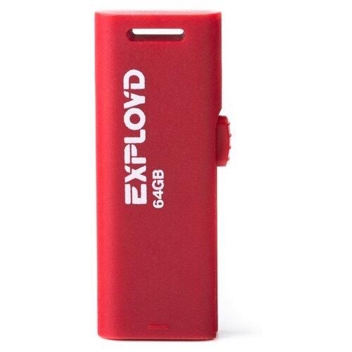 Купить Флешка EXPLOYD 580 64GB red