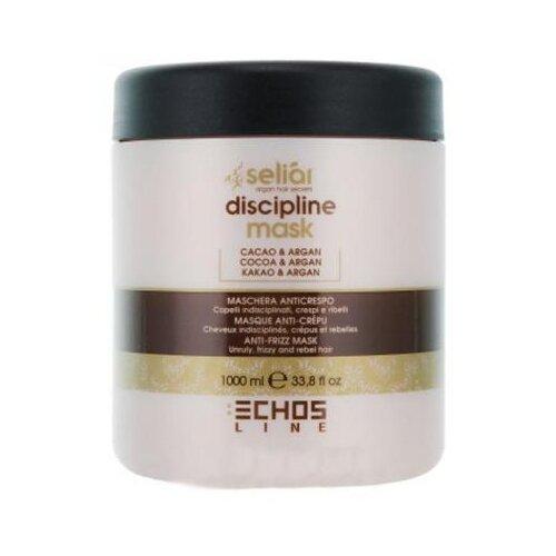 Echosline Seliar Discipline Маска для волос разглаживающая с аргановым маслом и какао, 1000 мл