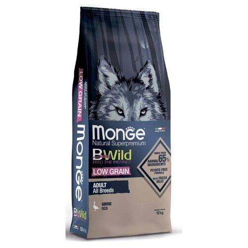 Сухой корм для собак Monge BWILD Feed the Instinct, гусь 12 кг