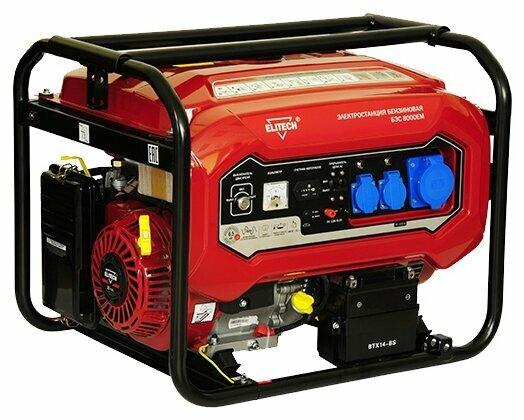 Бензиновый генератор ELITECH БЭС 8000 ЕМ (6000