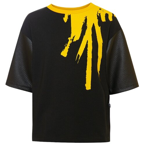 Купить Лонгслив Nota Bene размер 134, черный, Футболки и майки