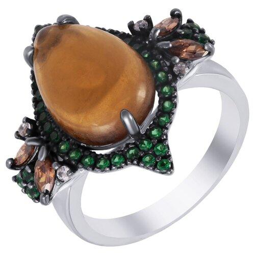 ELEMENT47 Кольцо из серебра 925 пробы с ювелирным стеклом и кубическим цирконием AAS-3520R_KO_US_001_WG, размер 17
