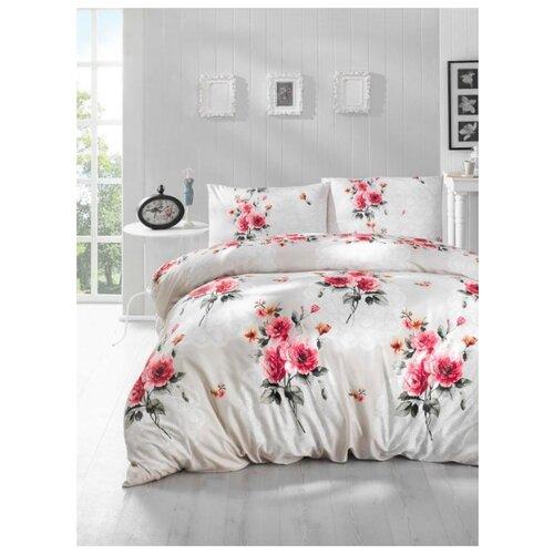 постельное белье luxe dream elite розово кремовый светло серебряный евро стандарт Постельное белье RANFORCE ELA ; Кремовый ; Размер: Евро