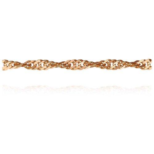 АДАМАС Цепь из золота плетения Панцирь одинарный ЦП250СзА2-А51, 55 см, 8.1 г
