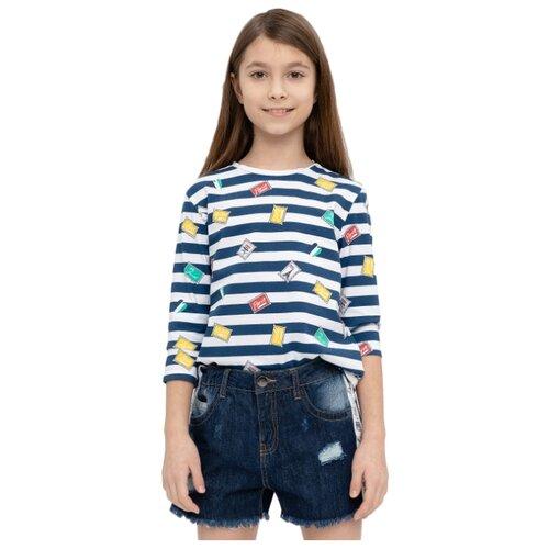 Купить Лонгслив Button Blue размер 158, синий, Футболки и майки