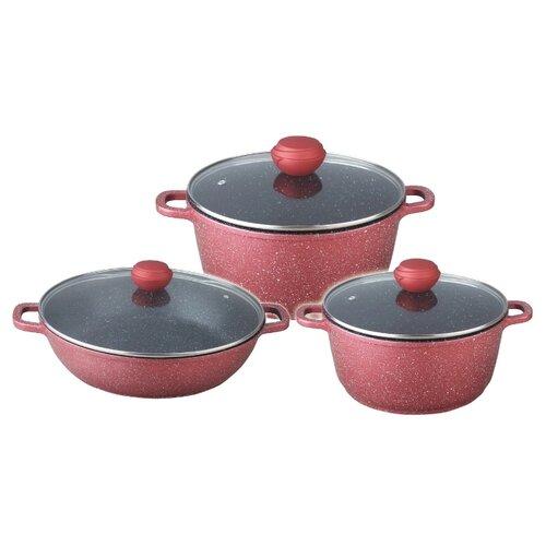 Набор посуды Bekker Rambo BK-4611 6 пр. бордовый david morrell rambo