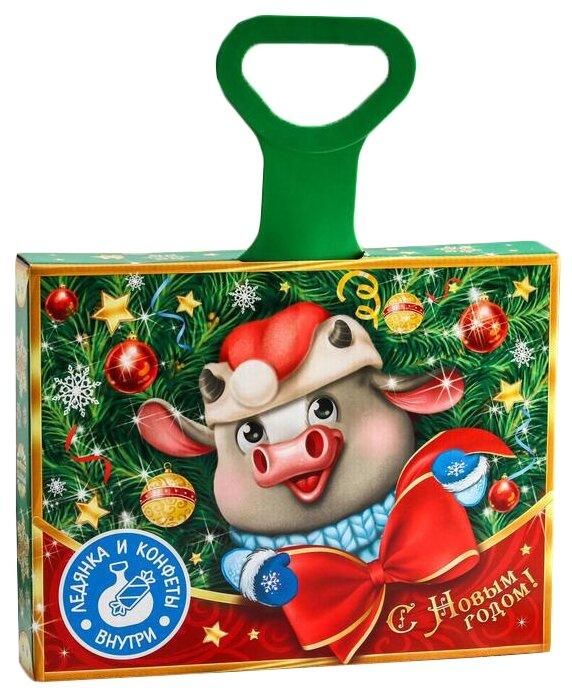 Подарочный набор Фабрика Счастья Бычок с ледянкой 500 г — купить по выгодной цене на Яндекс.Маркете