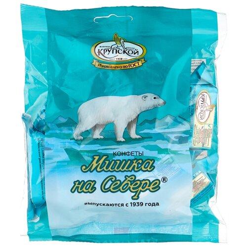 Конфеты Фабрика им. Крупской Мишка на севере, вафельная, кремовая начинка, сливочный вкус, пакет 200 г