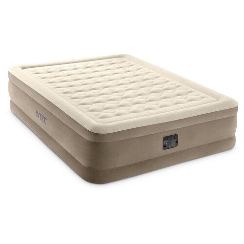 Надувная кровать Intex Ultra Plush Bed (64428) бежевый/коричневый intex ultra plush queen 220v 152x203x46cm 64428