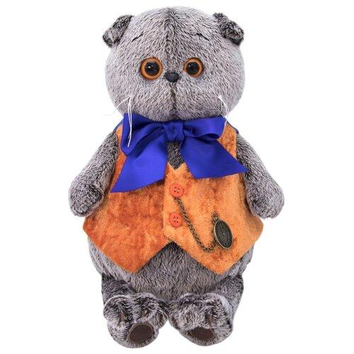 Купить Мягкая игрушка Basik&Co Кот Басик в жилете с часами 19 см, Мягкие игрушки
