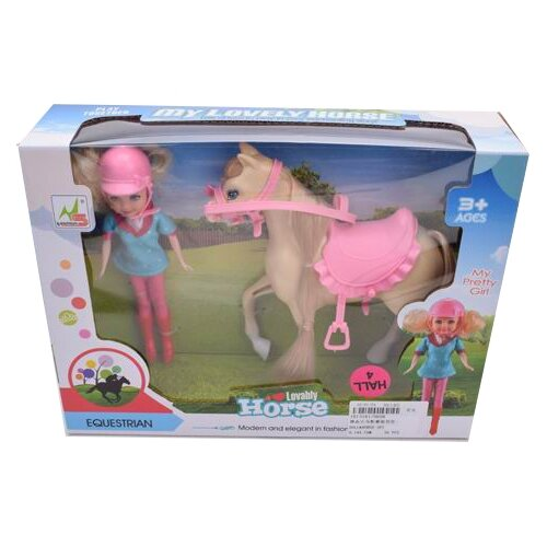 Купить Кукла China Bright Pacific Кукла с лошадкой, 20 см, 1813161, Куклы и пупсы