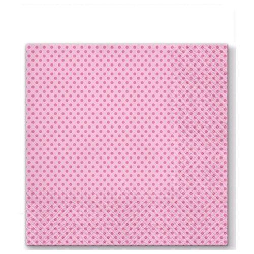 Купить PAW / Салфетки ланч 3-х слойные уп.20шт Точки(розовые), ПОЛЬША