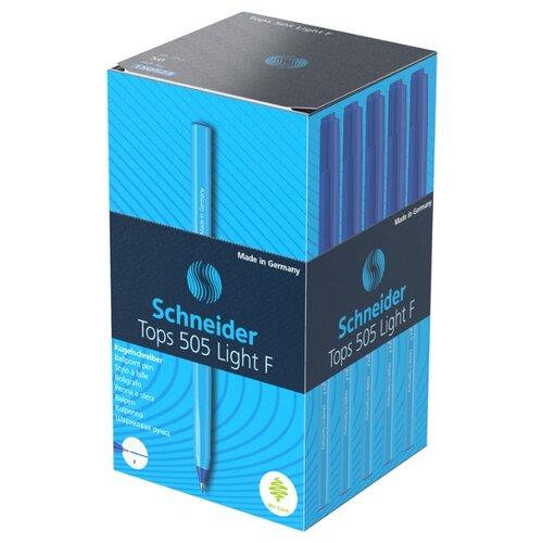Купить Schneider Набор шариковых ручек Tops 505 Light F (150523) 0.8 мм. 50 шт., синий цвет чернил, Ручки