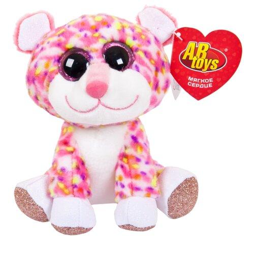 Купить Мягкая игрушка ABtoys Гепард розовый 14 см, Мягкие игрушки