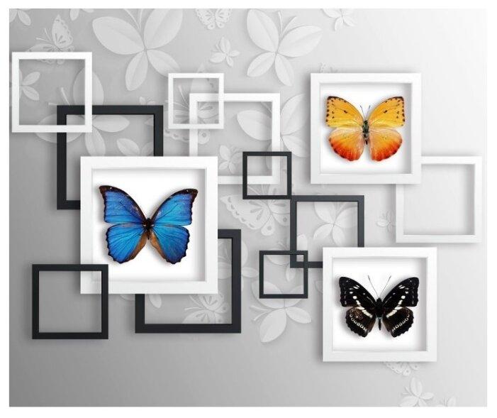 Фотообои флизелиновые Design Studio 3D Коллекция бабочек 3х2.5м
