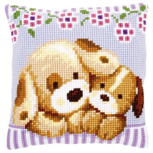 Купить Vervaco Набор для вышивания подушки Собачки 40 х 40 см (PN-0153903), Наборы для вышивания