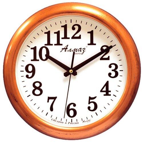Часы настенные кварцевые Алмаз H13-H19 медный/белыйЧасы настенные<br>