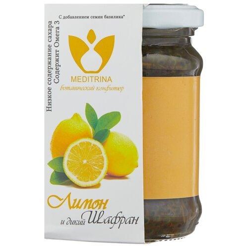 Ботанический конфитюр MEDITRINA из лимона и дикого шафрана, банка 300 г