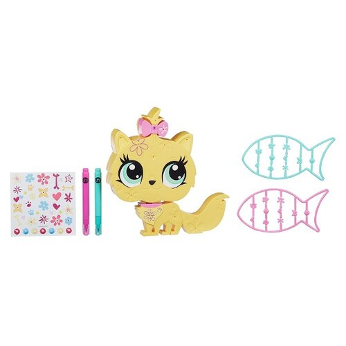 Игровой набор Littlest Pet Shop Littlest Pet Shop Укрась зверюшку - Котенок B0096