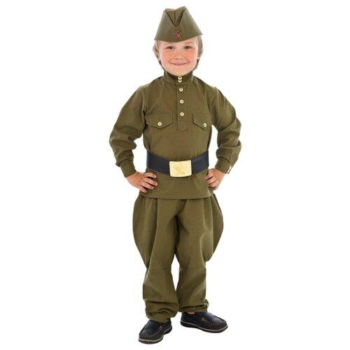 Купить Костюм Вестифика Гимнастерка (108 002), зеленый, размер 92-98, Карнавальные костюмы