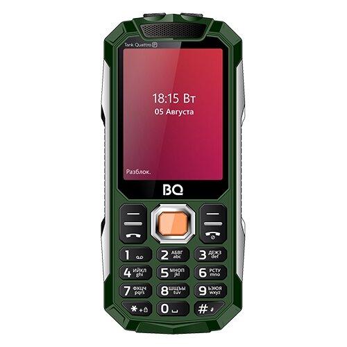 Телефон BQ 2817 Tank Quattro Power зеленый мобильный телефон bq mobile bq 2817 tank quattro power black