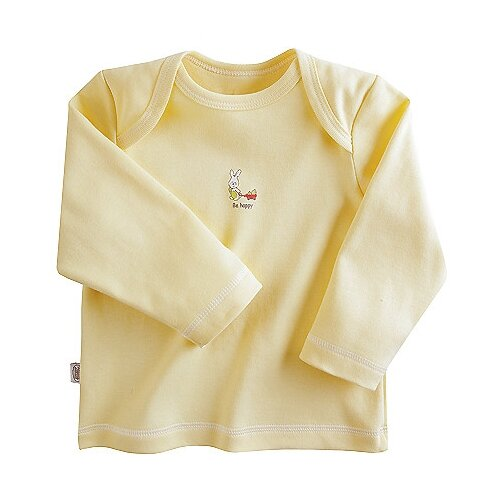Купить Лонгслив Наша мама размер 74, желтый, Футболки и рубашки