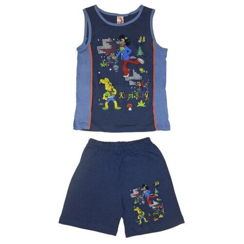 Комплект одежды Kirpi размер 128, синий/голубой