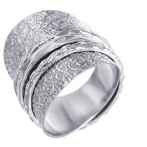 ELEMENT47 Широкое ювелирное кольцо из серебра 925 пробы SR7885_KO_001_WG, размер 19