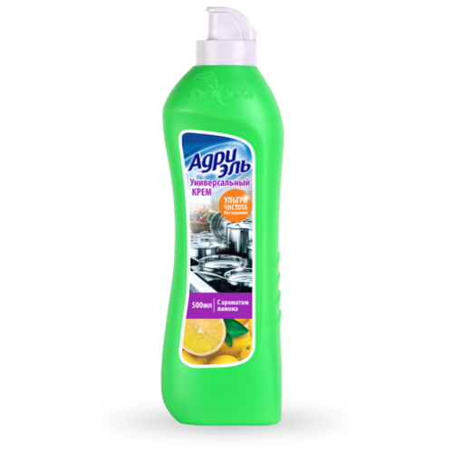 Универсальный чистящий крем с ароматом лимона АДРИЭЛЬ 500 мл funs крем чистящий универсальный с ароматом апельсина orange boy 400 гр
