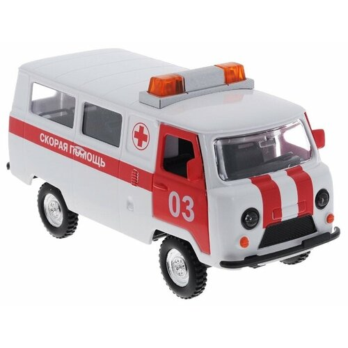 Микроавтобус ТЕХНОПАРК УАЗ-452 Скорая помощь (CT12-427-1) 1:43 17 см белый