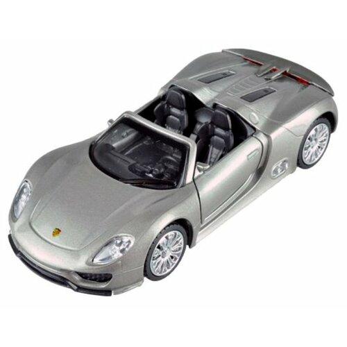 Купить Легковой автомобиль Пламенный мотор Porsche 918 Spyder (870146) 14 см серебристый, Машинки и техника
