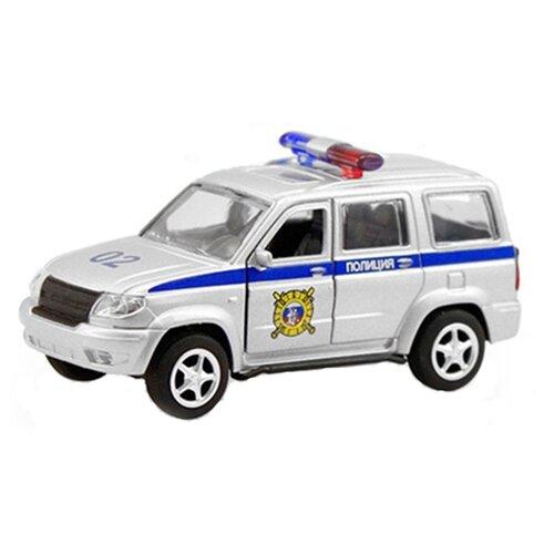 Купить Легковой автомобиль Play Smart УАЗ Патриот 3163 Полиция (6403D) 1:50 серебристый, Машинки и техника
