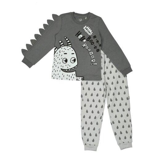 Купить Пижама RuZ Kids размер 122-128, серый/темно-серый, Домашняя одежда