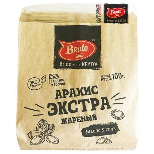 Арахис Bruto Экстра жареный Масло и соль флоу-пак 100 г