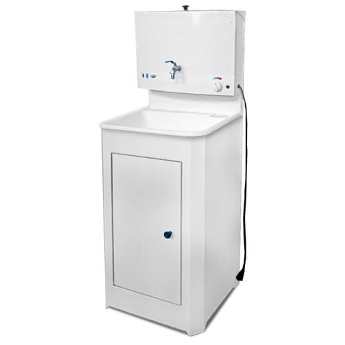Умывальник для дачи Акватекс с водонагревателем и пластиковой мойкой (Белый)