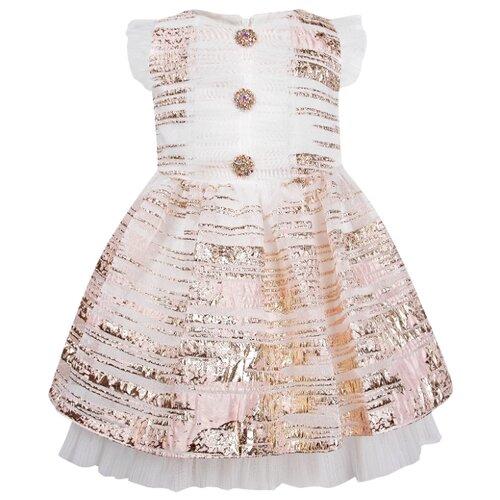 Платье David Charles размер 92, розовый/золотой
