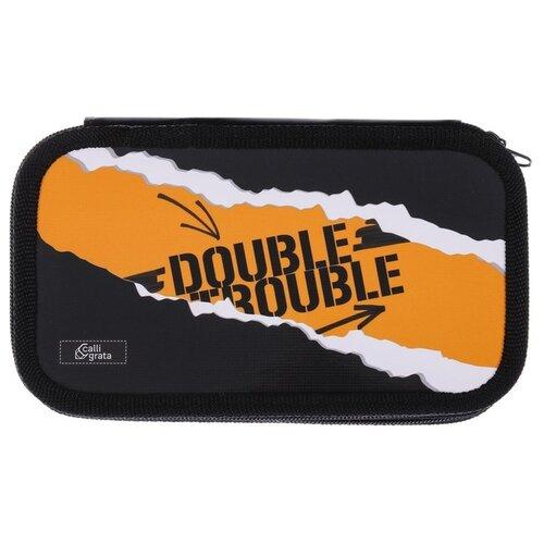 Calligrata Пенал Double trouble (4779624) черный/оранжевый