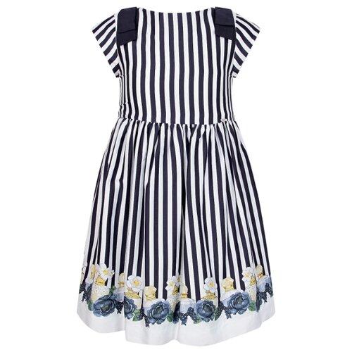 Купить Платье Mayoral размер 134, полоска/белый/синий, Платья и сарафаны