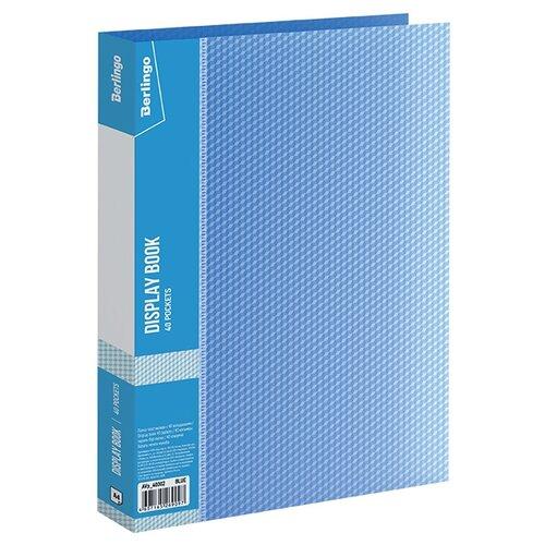 Купить Berlingo Папка с 40 вкладышами Diamond A4, пластик синий, Файлы и папки