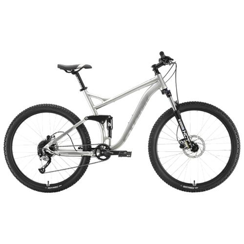 Горный (MTB) велосипед STARK Tactic 27.5 FS HD (2020) серебристый/серый 22