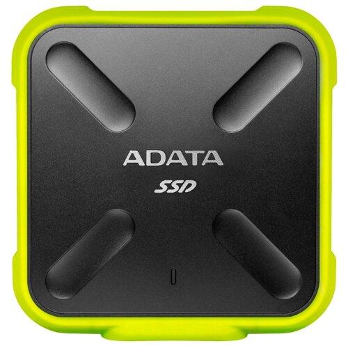 Фото - Внешний SSD ADATA SD700 512 ГБ, желтый внешний ssd hp p700 512gb 5ms29aa 512 гб черный