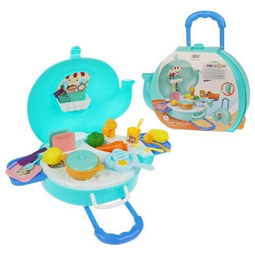 Купить Набор продуктов с посудой Наша игрушка Кухня 8757, Игрушечная еда и посуда