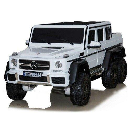 Купить RiverToys Автомобиль Mercedes-Benz G63 AMG 4WD P777PP, белый, Электромобили