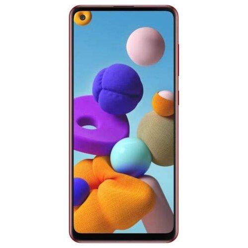 Смартфон Samsung Galaxy A21s 3/32GB красный (SM-A217FZRNSER) смартфон samsung galaxy j4 2018 sm j415 3 32gb gold
